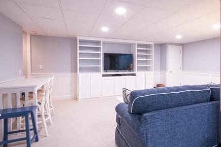 New Seabury, Mashpee New Seabury vacation rental - Entertainment area in basement with TV/DVD