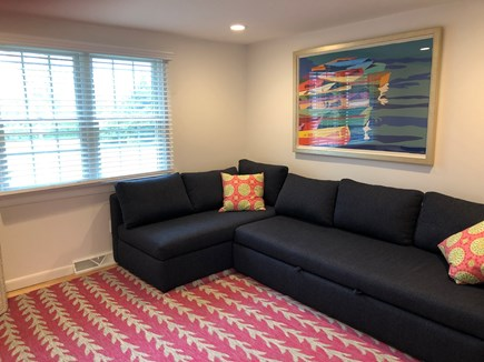 Falmouth Cape Cod vacation rental - Den with large flat screen TV accommodates sleeping for two