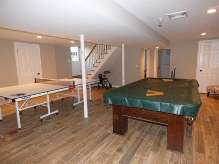 Dennis Cape Cod vacation rental - Lower level game room with pool & ping pong table. Full bath down