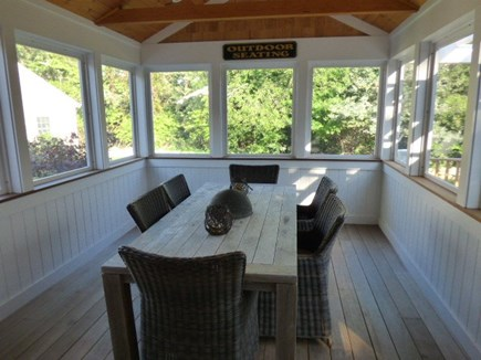 Dennis Cape Cod vacation rental - Eat in Screened porch