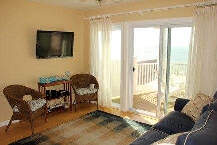 North Truro Cape Cod vacation rental - Cozy living room with sliders to the deck and beach