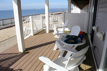North Truro Cape Cod vacation rental - Waterside covered deck