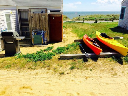 Wellfleet Cape Cod vacation rental - View from behind the cottage facing the bay