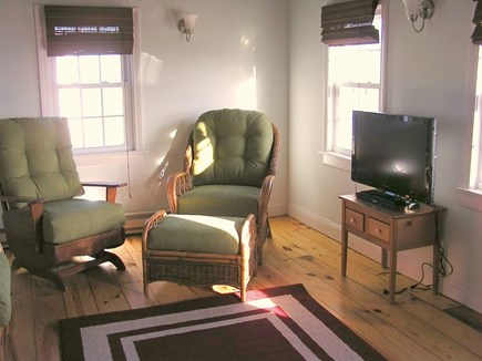 Wellfleet Cape Cod vacation rental - Living room with cable TV and DVD player, and plenty of light