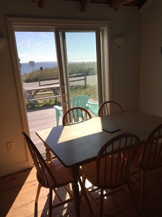 Wellfleet Cape Cod vacation rental - View of the bay from the kitchen table