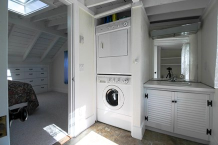 Barnstable Cape Cod vacation rental - Full bathroom with washer and dryer on upper level