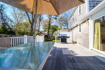 Barnstable Cape Cod vacation rental - There is a patio table and gas grill for your use!