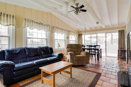 Barnstable Cape Cod vacation rental - The sunroom is a great room to accommodate everyone in the family