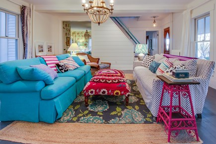 Wellfleet Cape Cod vacation rental - This bright living room is inviting to everyone who walks in.