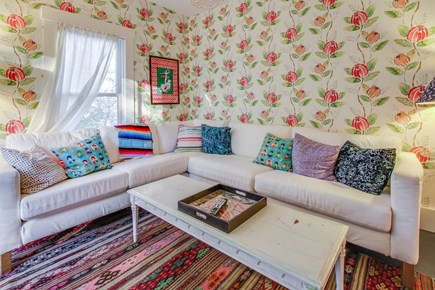 Wellfleet Cape Cod vacation rental - There is room for everyone on the sectional couch.