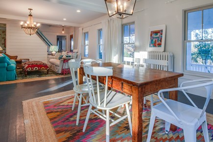 Wellfleet Cape Cod vacation rental - Sit down with family and friends at the dining room table.