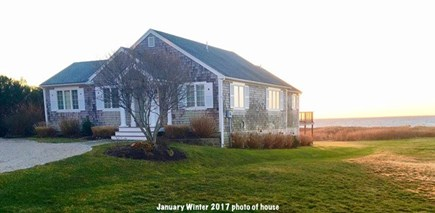 Falmouth Cape Cod vacation rental - Exterior shot with beach in back