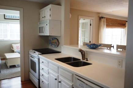 Falmouth Cape Cod vacation rental - Kitchen work area open to dining/living