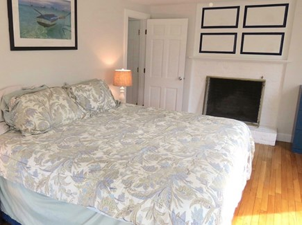 Brewster Cape Cod vacation rental - Master BR, main level. The bed is king size.