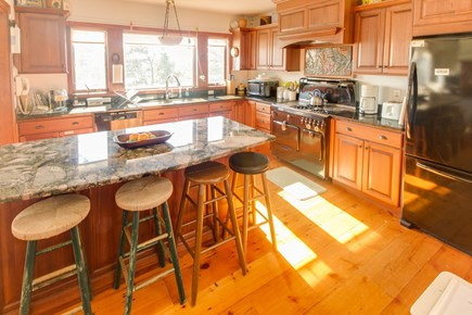 Brewster Cape Cod vacation rental - Enjoy the kitchen with rich wood cabinetry