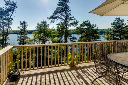Brewster Cape Cod vacation rental - Outside deck offers magnificent views of the lake