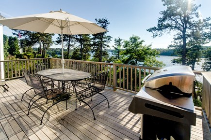 Brewster Cape Cod vacation rental - Enjoy the view at you back deck BBQ cookout