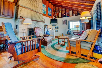 Truro Cape Cod vacation rental - Warm up in front of the fire after a day on the ocean.
