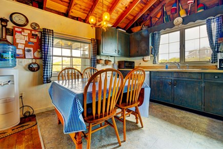 Truro Cape Cod vacation rental - Eat some fresh seafood on this dining room table.