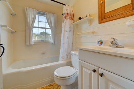 Truro Cape Cod vacation rental - Shower and get ready for the day in this full bathroom.