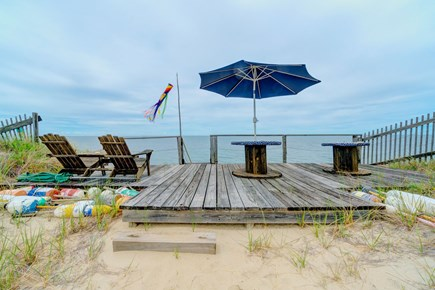Truro Cape Cod vacation rental - Sit on the back deck and watch the sunset over the ocean.