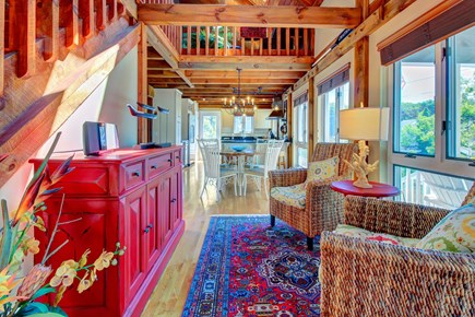 Chatham Cape Cod vacation rental - The modern interior boasts vaulted ceilings
