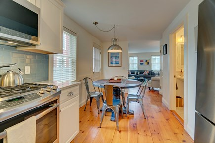 Provincetown Cape Cod vacation rental - There is room for 4 to eat at this dining table