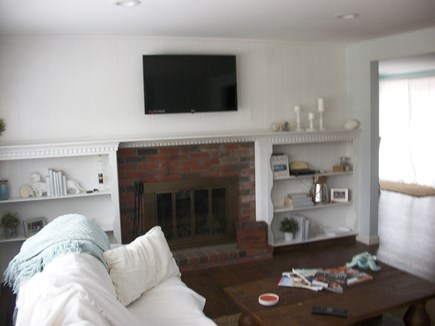 East Dennis Cape Cod vacation rental - Living room with flat screen