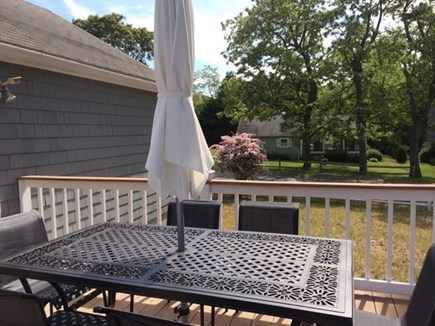 East Dennis Cape Cod vacation rental - Dining on the deck