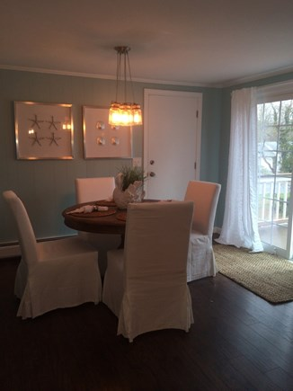 East Dennis Cape Cod vacation rental - Dining onto the deck