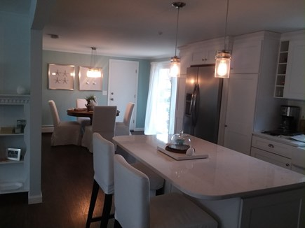 East Dennis Cape Cod vacation rental - Kitchen into Dining