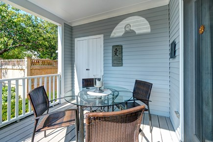 Provincetown Cape Cod vacation rental - Sit on the back deck and plan your day.