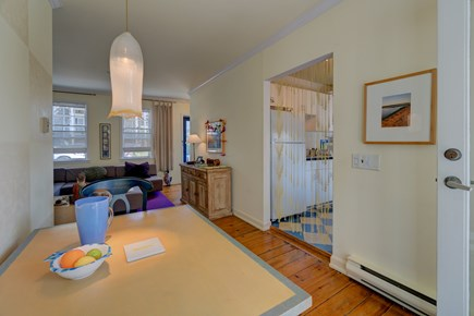 Provincetown Cape Cod vacation rental - There is room for 2 at this dining room table.