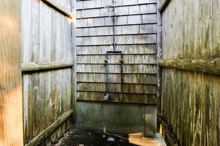 Dennis Cape Cod vacation rental - Wash the beach off at the outdoor shower before relaxing inside