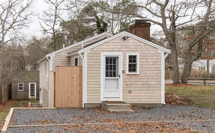 Dennis Cape Cod vacation rental - Wash the sand off your feet at this outdoor shower