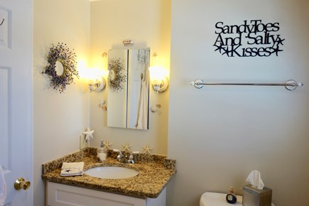 South Yarmouth Cape Cod vacation rental - Full bathroom w/tub & shower, granite vanity,& ceramic tile floor