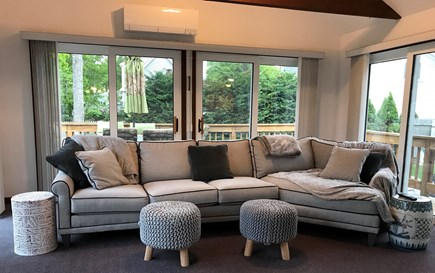 South Yarmouth Cape Cod vacation rental - SunRoom surrounded w/ sliders open to the wrap-around deck