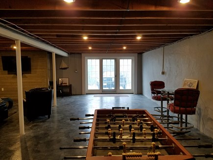 Falmouth Cape Cod vacation rental - Basement.Theater, fuse ball, leather sectional,  bar, 2nd fridge