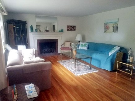 Falmouth Cape Cod vacation rental - Living Room , Pull out Couch, pull out single bed in frst fl clo
