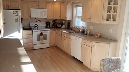 Falmouth Cape Cod vacation rental - Different view of updated fully furnished kitchen.