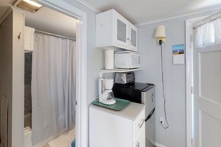 Orleans Cape Cod vacation rental - The kitchenette provides a fridge, microwave, coffee, and toaster