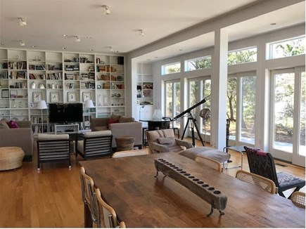 Wellfleet Cape Cod vacation rental - Open concept dining area/living room