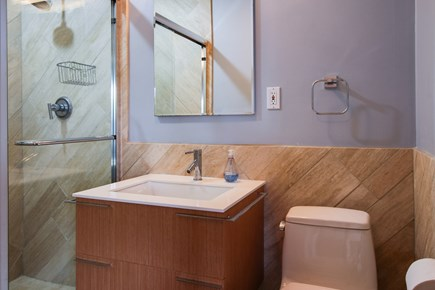 Provincetown Cape Cod vacation rental - Get ready for the day in this bathroom.