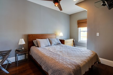 Provincetown Cape Cod vacation rental - This queen bed with welcome you after a long day at the beach.