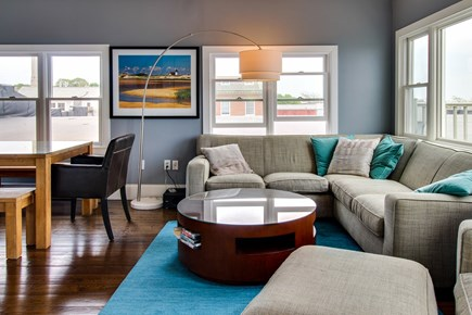 Provincetown Cape Cod vacation rental - The sectional makes sure everyone has a place to sit.