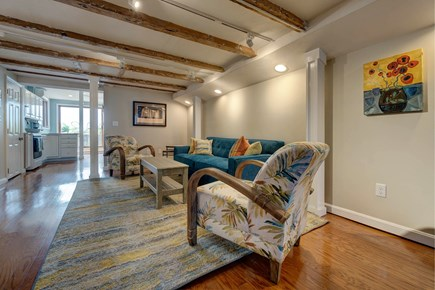 Provincetown Cape Cod vacation rental - Family and friends will love lounging around in this living room.
