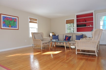 Harwich Port Cape Cod vacation rental - Spacious living room across from dining area