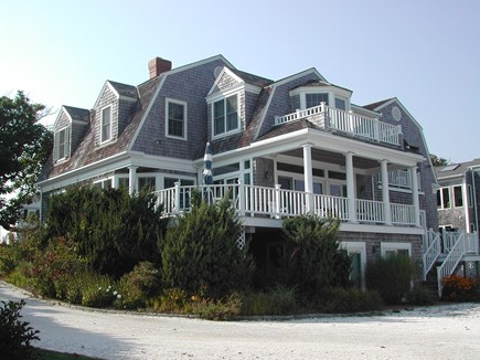 Chatham Cape Cod vacation rental - Back of home with decks.