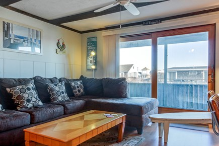 Provincetown Cape Cod vacation rental - Relax on the sectional after a long day at the beach.
