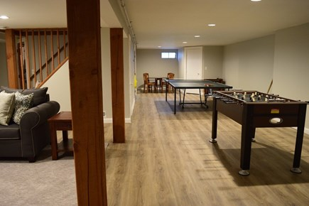 South Chatham Cape Cod vacation rental - Basement Game Room